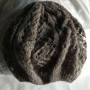 Aerie Knit Gray Beanie Cap